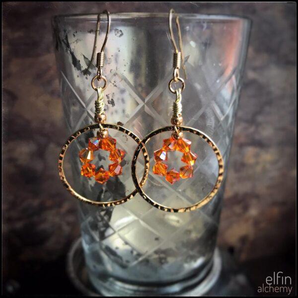 elfin alchemy sparkly statement zoom earrings