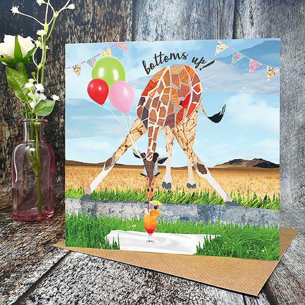 Bottom's Up Birthday Card
