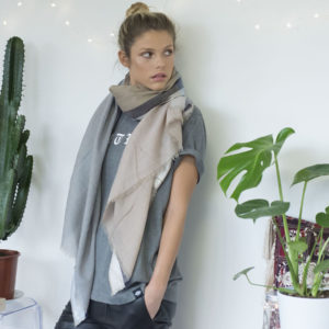 lurex border scarf Lisa Taylor Design 1, Pedddle