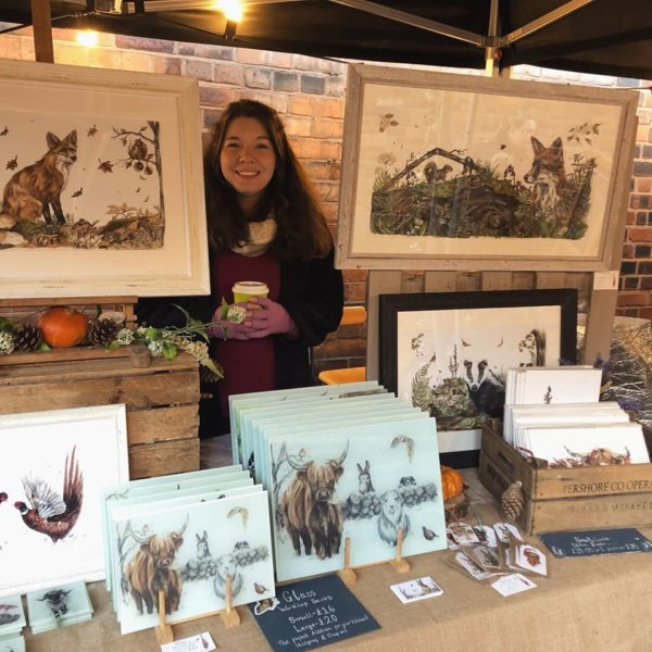 Hollie childe Art market stall