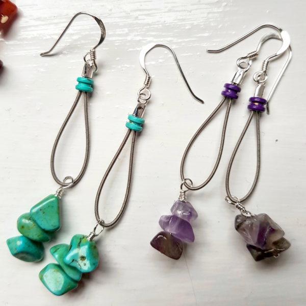 Earrings, String Effects. Pedddle.