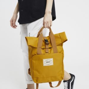 Yellow rucksack, Junkbox Apparel. Pedddle.