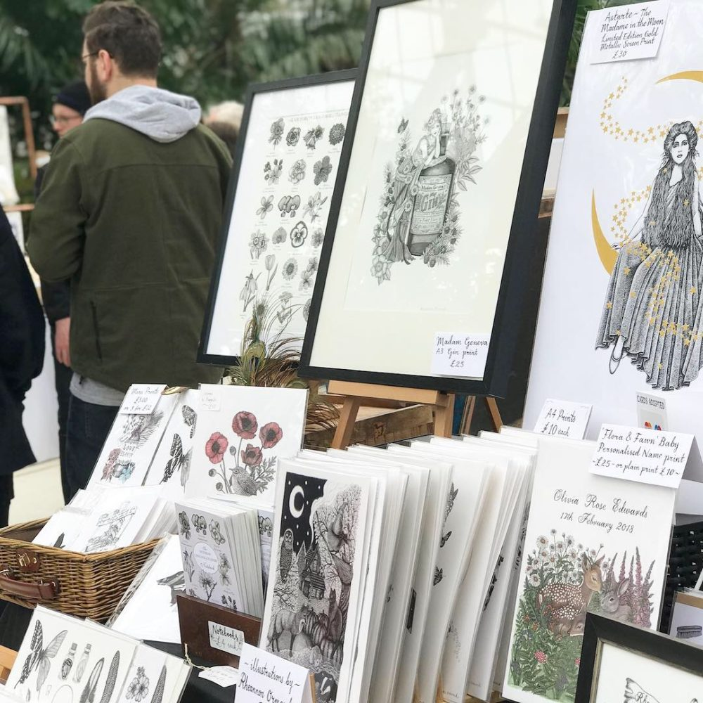Rheannon Ormond Illustrations at Palm House, Pedddle