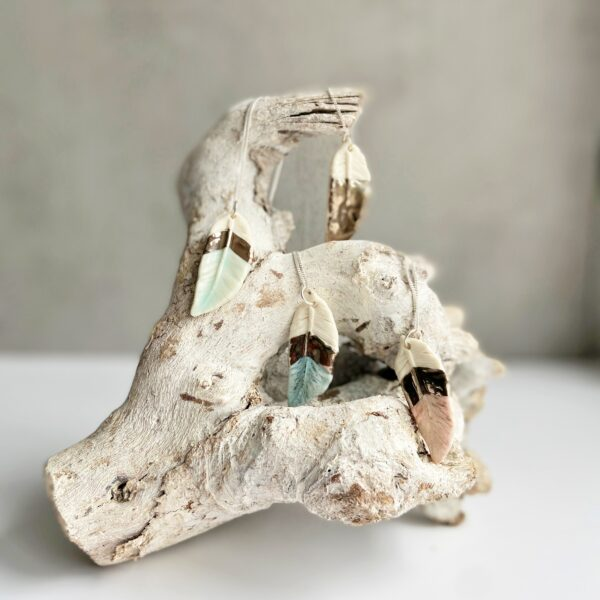 Feather Pendant Collection - Nicola Briggs Ceramics