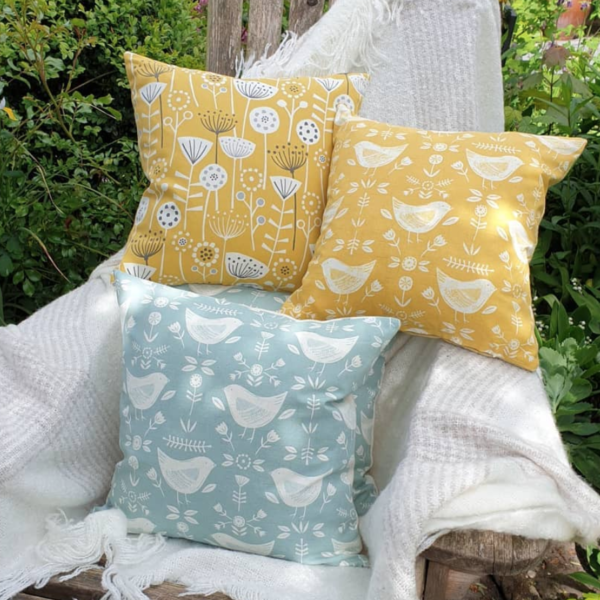 Cosy wren bright cushions
