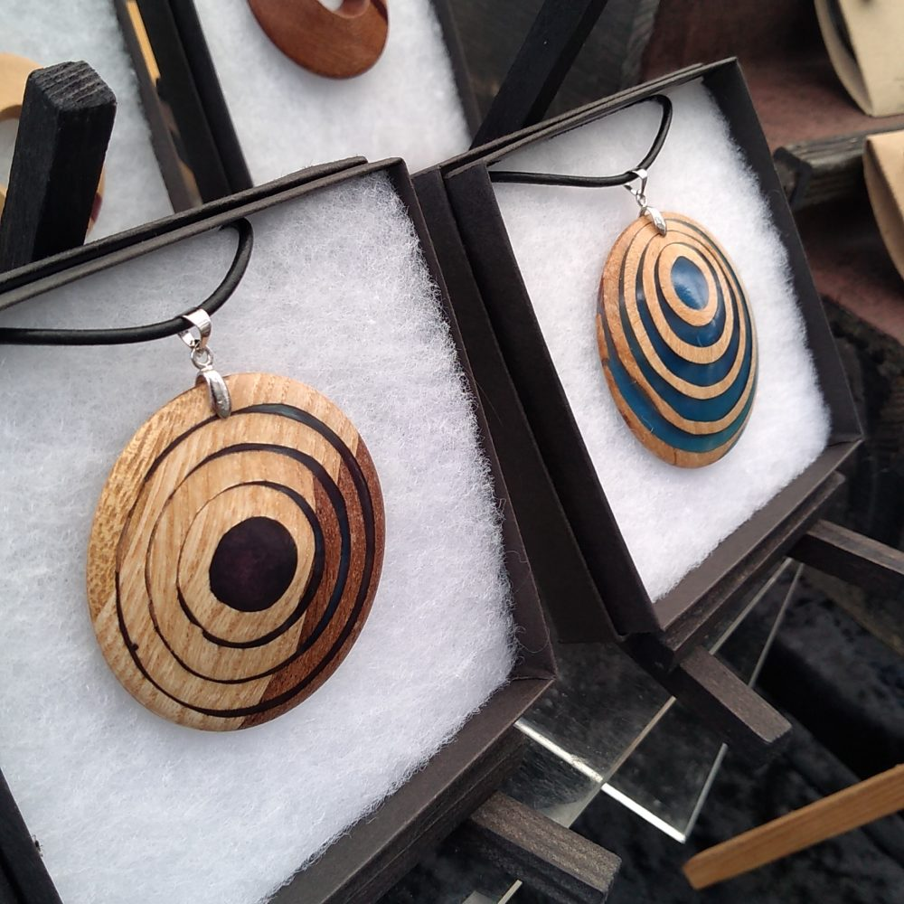 Woodcraft by Owen - Unique wood and resin pendants