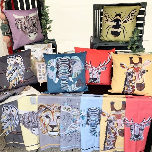 Cushy Paws printed animal collection