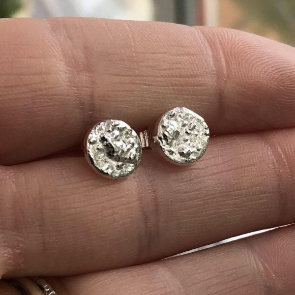 Rachelanne jewellery. Pedddle. Silver full moon studs