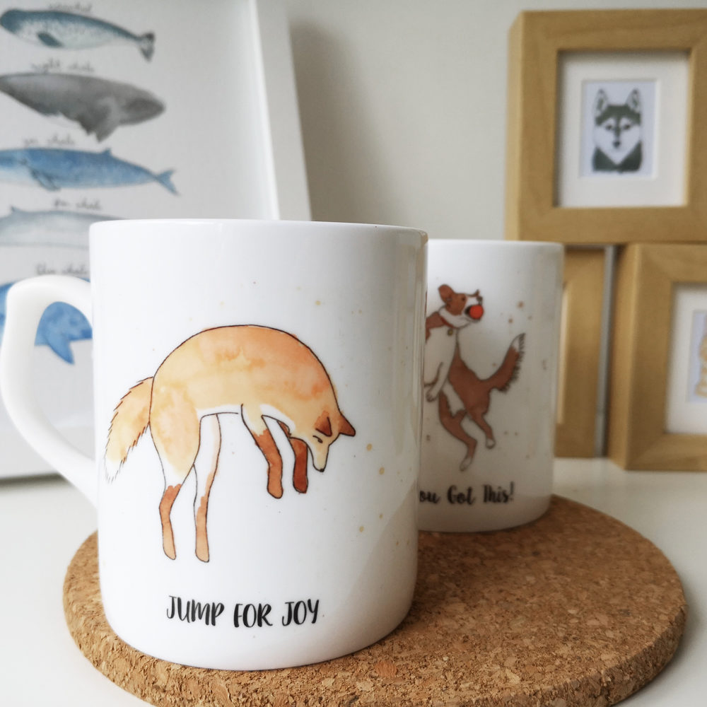 Fox China Mug, Giraffes & Unicorns, Pedddle
