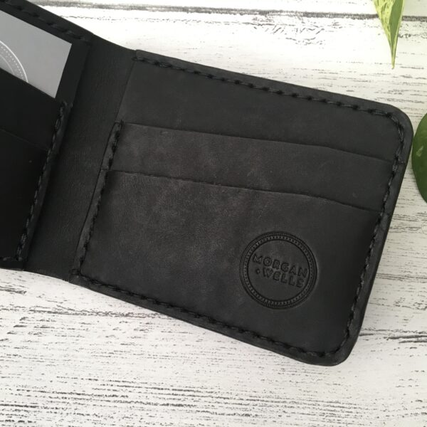 Morgan + Wells, Cinnabar bifold leather wallet, Pedddle