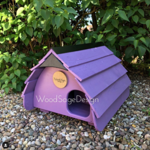 Wood Sage Design, Purple Hedgehog House.