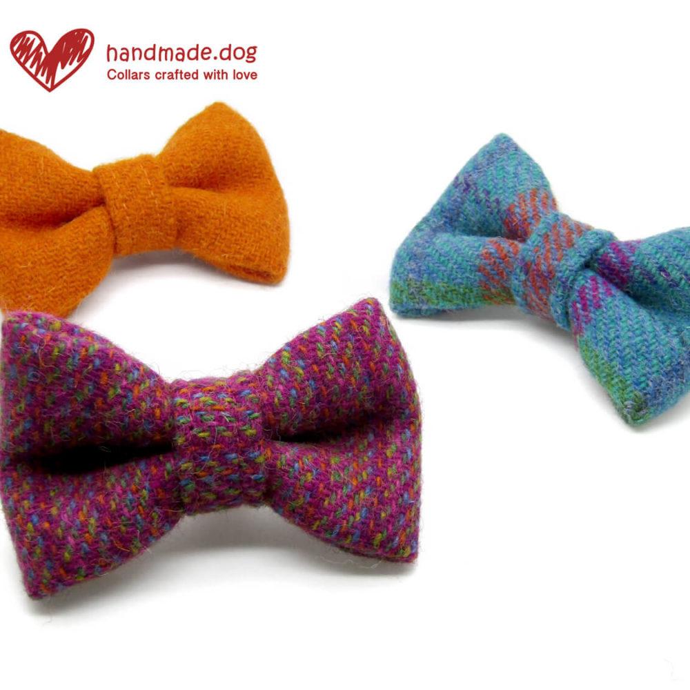 handmade.dog Harris Tweed Dog Dickie Bows, Pedddle