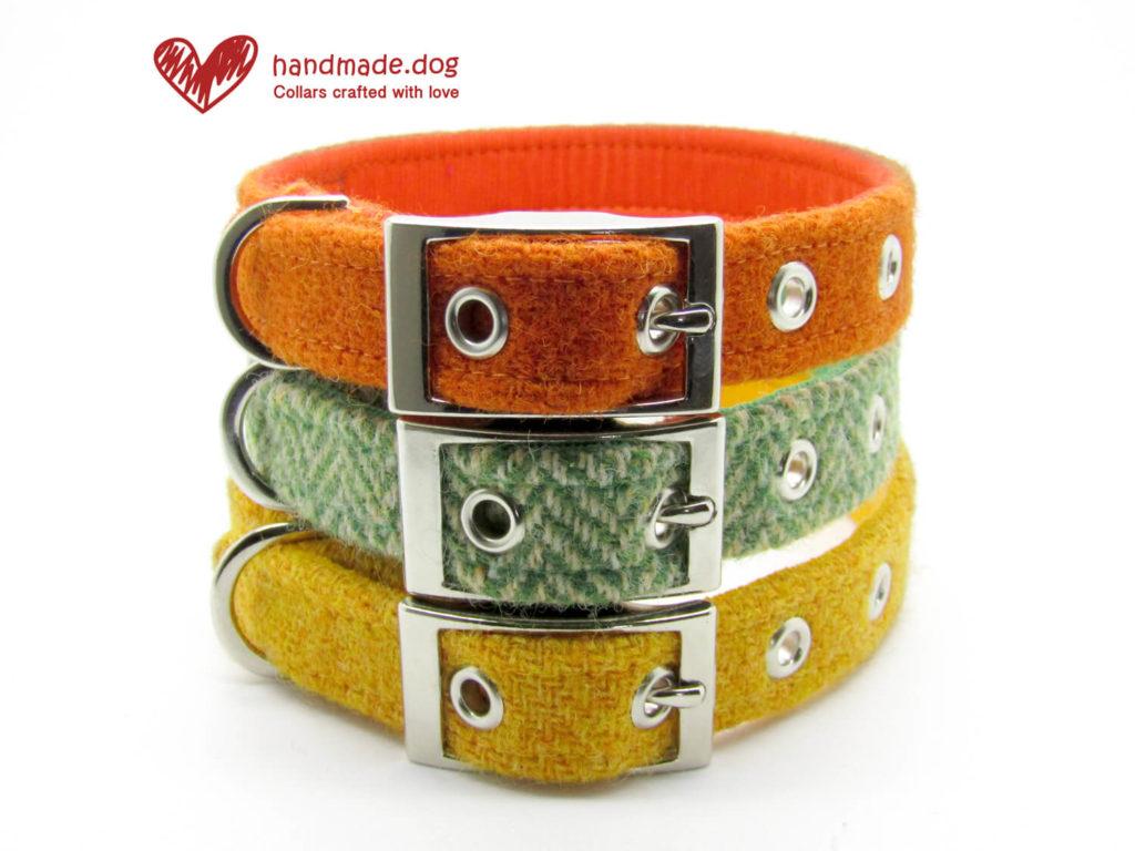 handmade.dog Harris Tweed Dog Collars, Pedddle