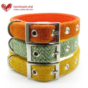 handmade.dog Harris Tweed Dog Collars, Pedddle