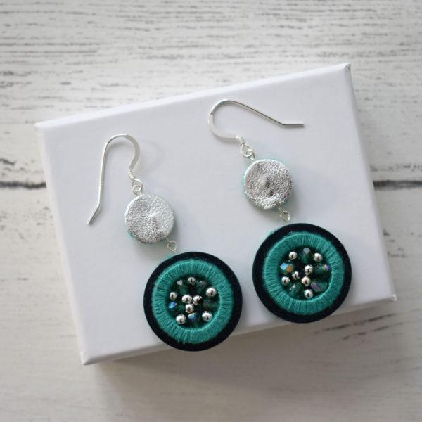 Jemma Marston Blue/Green Embellished Double Hooks