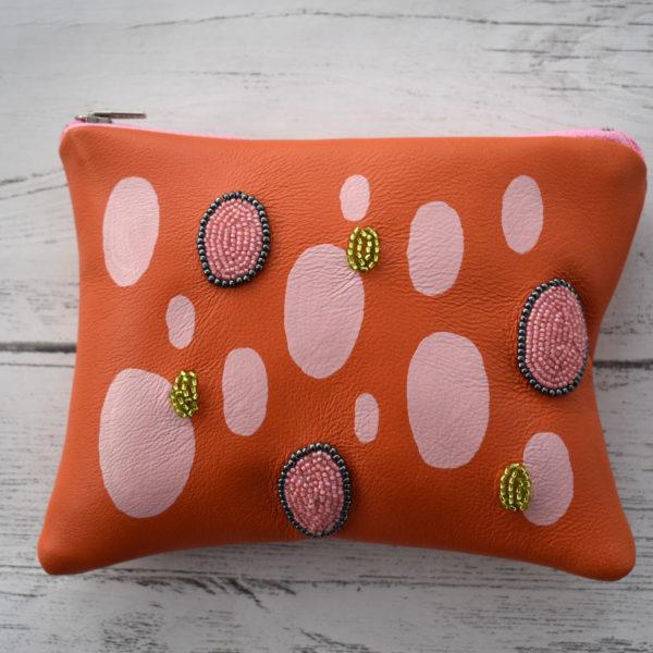 Jemma Marston Orange Embellished Pouch