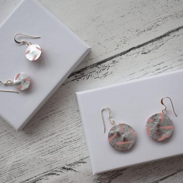 Jemma Marston Silver/Pink Leather Mini & Midi Hooks