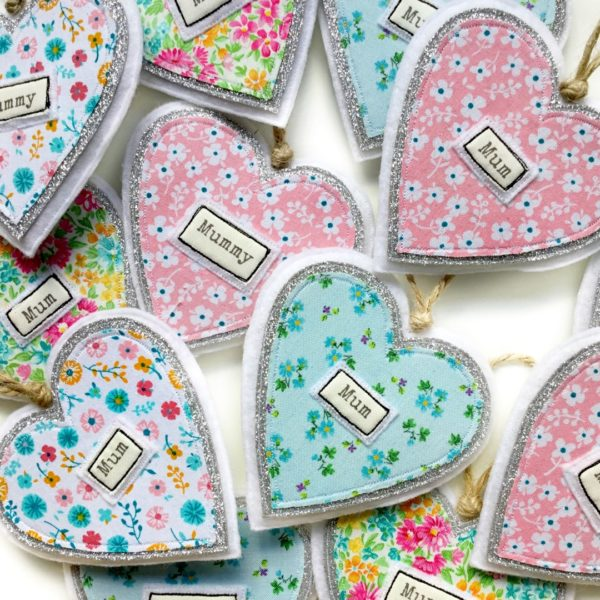 Tink&Reu, Fabric Heart Gift Tags With Personalisation