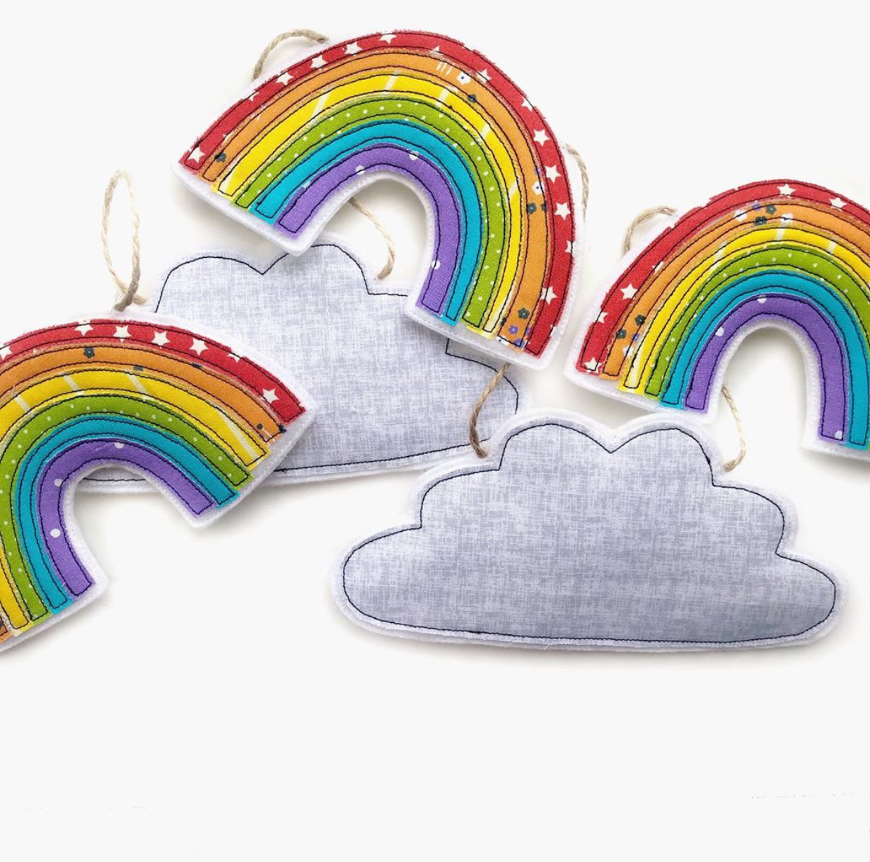 Tink&Reu, Fabric Bright Rainbow Garland