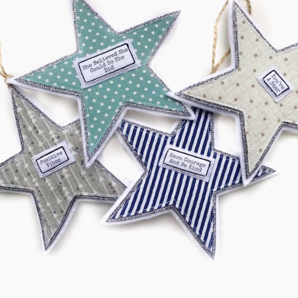 Fabric Scandi Star Decoration With Personalisation