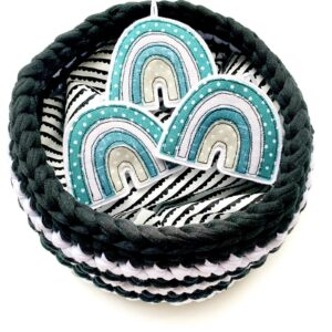 Tink&Reu | Crochet Basket & Fabric Rainbow