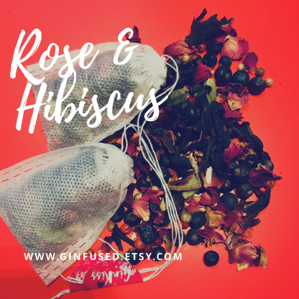Ginfused, Rose and Hibiscus botanical infusion bags