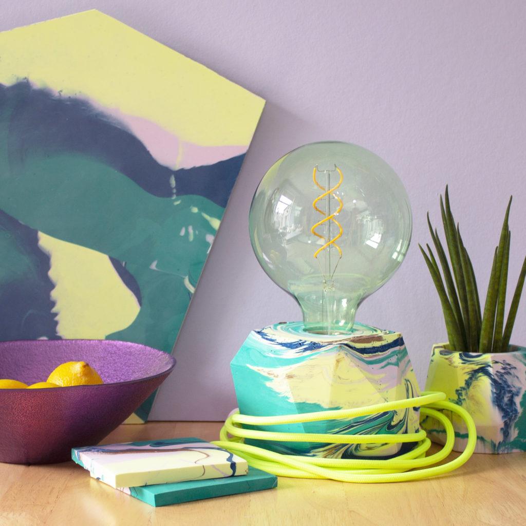 Marbled Desk Lamp