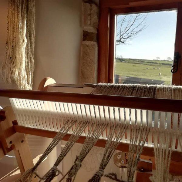 Royal Edge, Pedddle, Jacob woven yarn loom