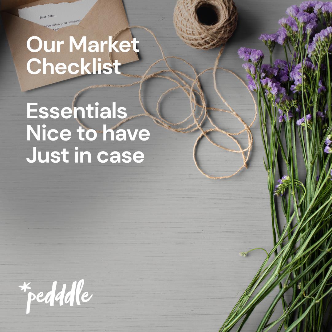 A Market Checklist, Pedddle