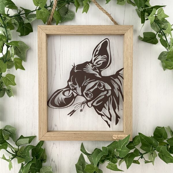 Hungry Cow Papercut Framed Art