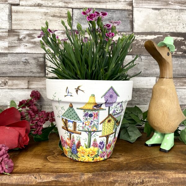 Terracotta Birdhouse Plant Pot
