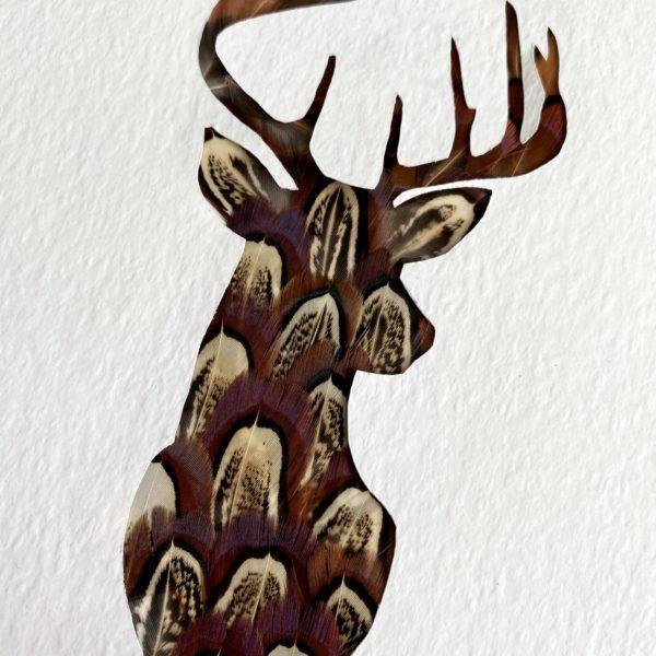 Stag Pheasant Feather Artwork