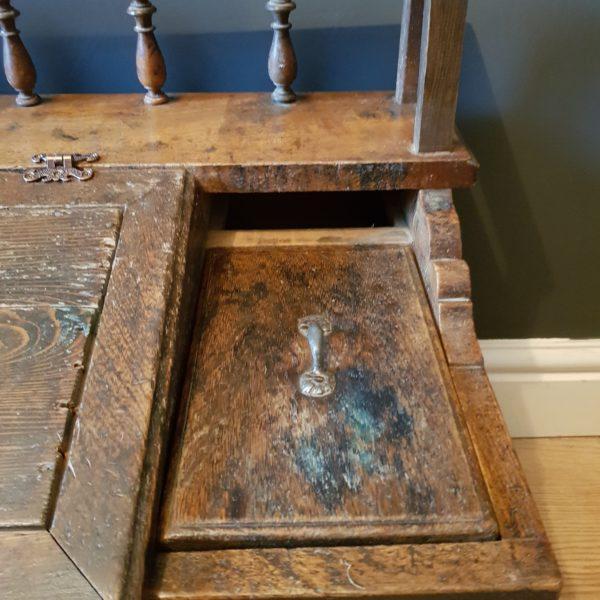 Vintage Whatnots - Antique wooden table top Japanese Clerks desk