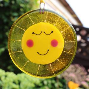 Fused Glass Sunshine Sarah Myatt Glass