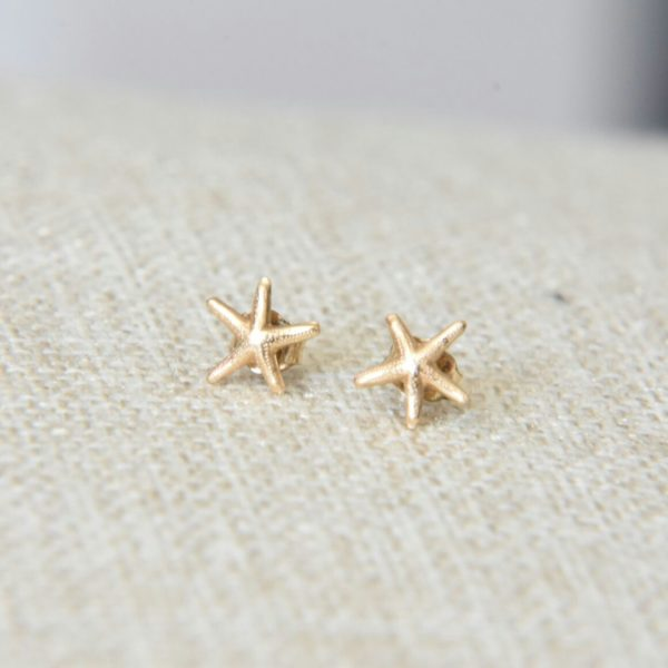 Gold Starfish Earrings - January Eleven Jewellery