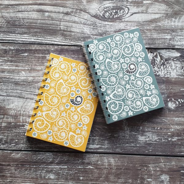 Fossil Beach A6 notebooks by daffodowndilly, pedddle