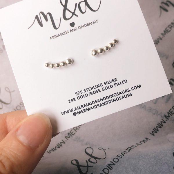 sterling silver creeper earrings
