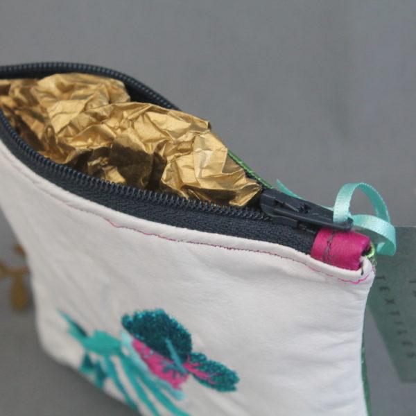Tabitha Textiles, Tropical Leather Purse, Pedddle