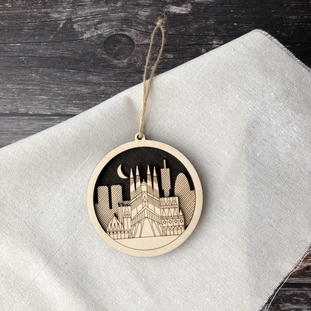Mock Up Goods Co. Pedddle. Barcelona Ornament