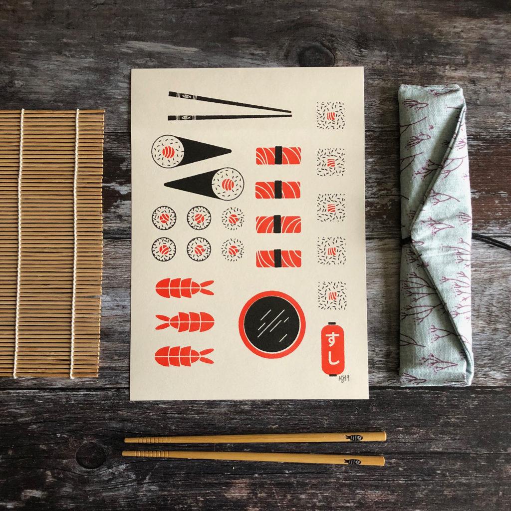 Mock Up Goods Co. Pedddle. Sushi