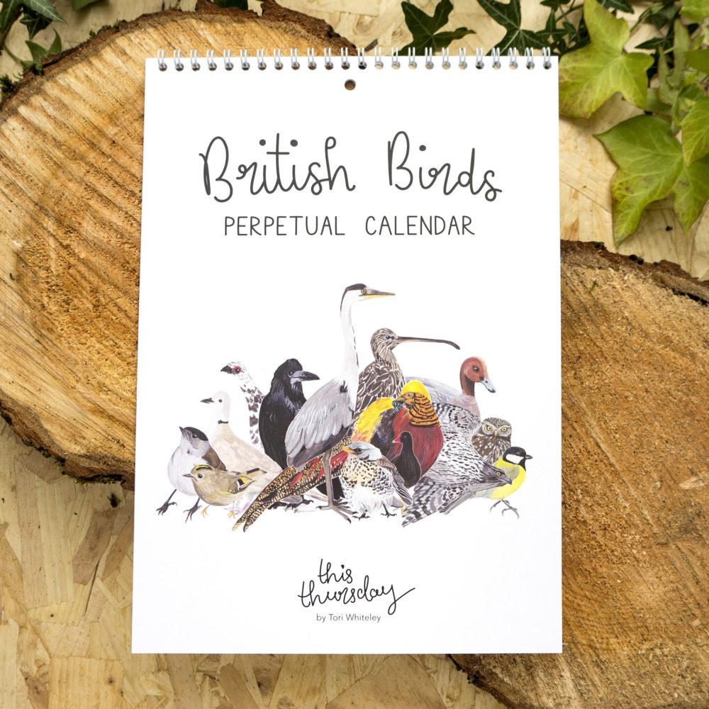 This Thursday, Pedddle. British Birds Perpetual Calendar