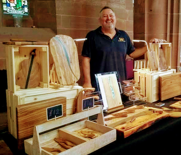 Showcasing at local events - Whispers of Wood