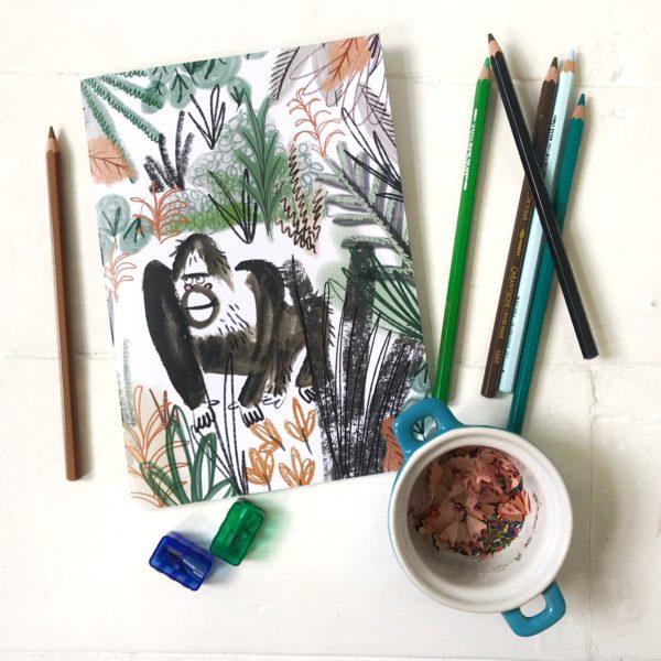 Gorilla Recycled Notebook, Pen & Gwyn. Pedddle