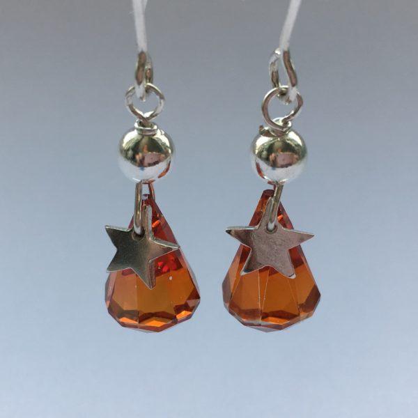 DoodleRocks silver star earrings. Pedddle.