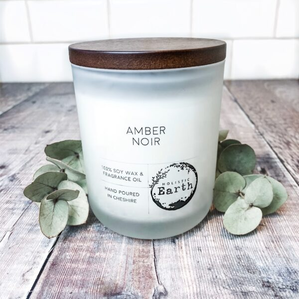 Holistic Earth Amber Noir Candle