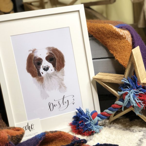 Echo Art, personalised pet portrait. Pedddle.