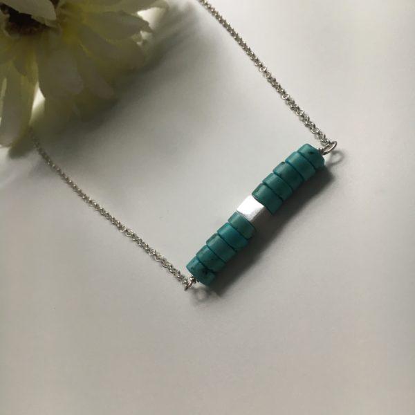 DoodleRocks, blue bead necklace. Pedddle.