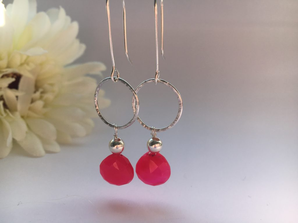 DoodleRocks, glass drop earrings. Pedddle.
