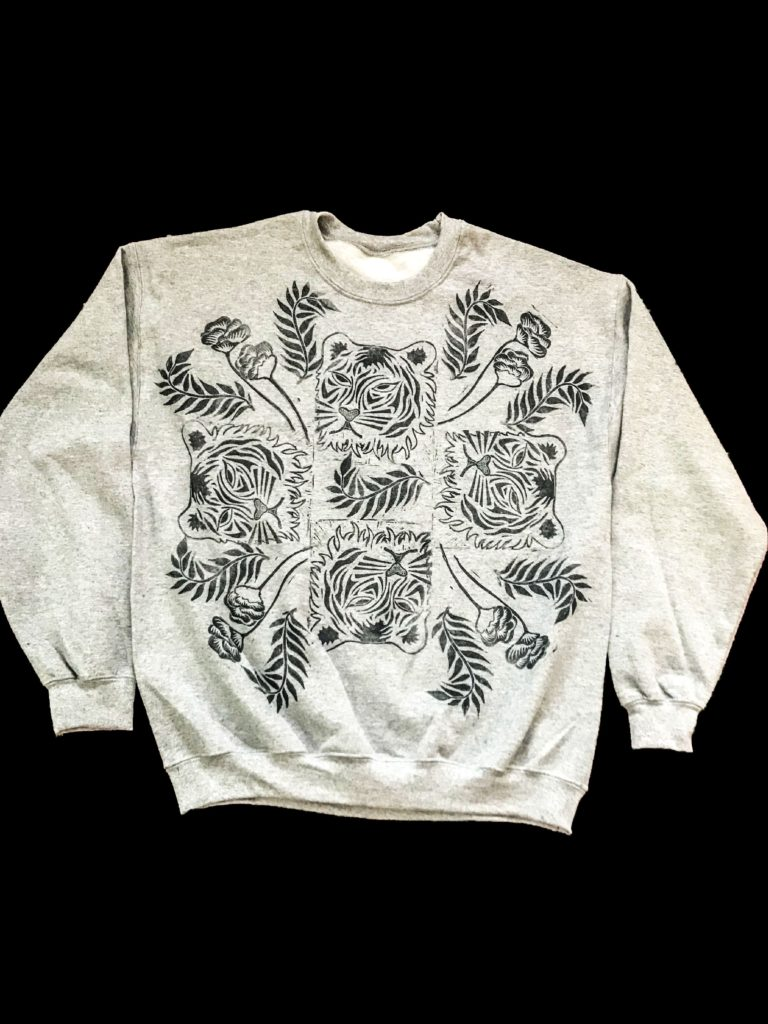 Cool Beau, Block Print Jumper in Tiger Print. Pedddle.