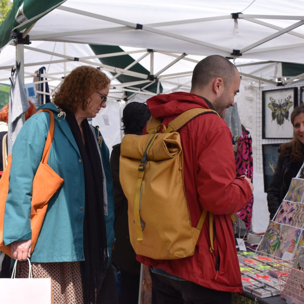 Shoppers at the Muswell Hill Creatives Market. Pedddle